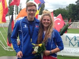 Myles Pillage and Kerenza Bryson Youth A European Pentathlon Championships