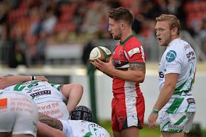 Scrum-half Shepherd enjoyed his first run-out for Plymouth Albion