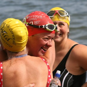 Swimmers ready for the rearranged Plymouth Breakwater event