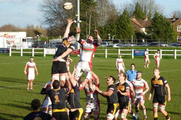 Albion on their way to victory at Esher in January