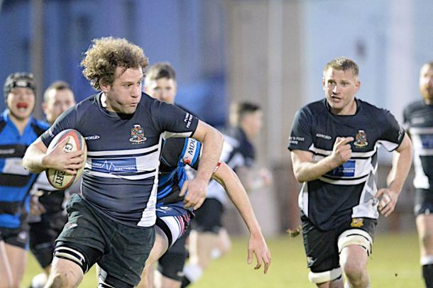 Old Techs on the attack in the Lockie Cup final (picture by Mark Andrews)
