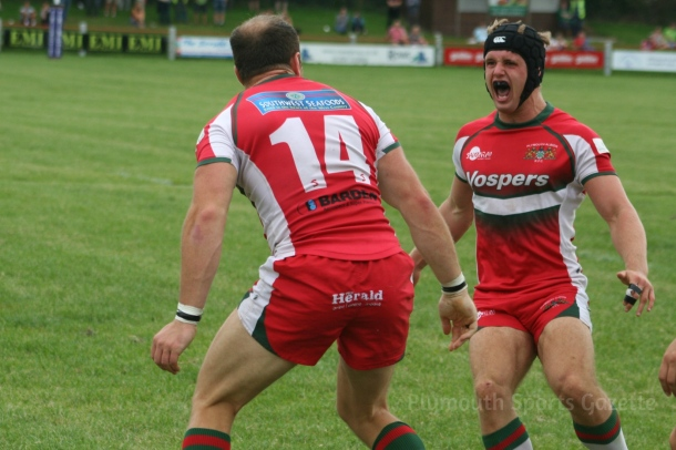 Matt Crosscombe and Dean Squire Plymouth Albion