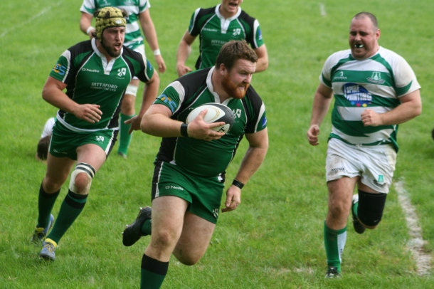 Matt Finn goes in to score for Ivybridge