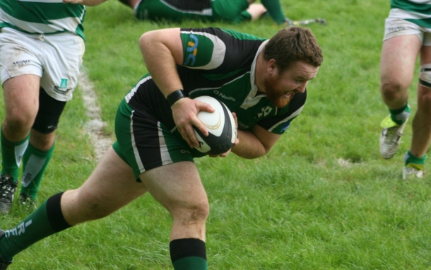 Matt Finn scores try for Ivybridge against Salisbury