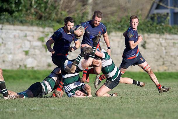 Devonport Services in action against Exeter University (picture by Mark Andrews)