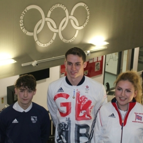Olympic swimmer Proud meets talented athletes at Plymouth StudioSchool
