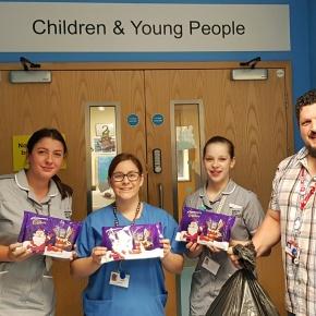 Argaum show their Christmas spirit with festive donation to DerrifordHospital