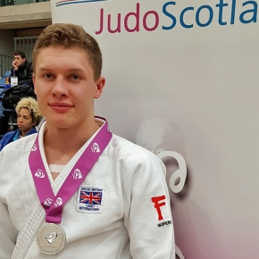 Judo star Widdicombe wins silver at Scottish Junior and Senior Open