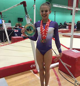 Plymouth Swallows delighted by Ruby's national gymnastics success