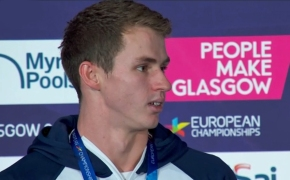 Proud claims his first European title with 50m freestyle victory in Glasgow