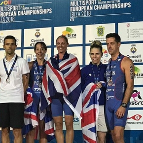 Tavistock athletes win medals at ETU Aquathlon European Championships in Ibiza