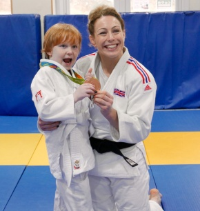 Rio Olympic medallist Conway inspires members on visit to judo club