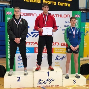 Maksimovic and Purnell win silver medals at the British Schools' BiathlonChamps