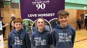 Spooners and West Dartmoor pair win medals at Pony Club National Triathlon