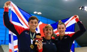 Daley wins mixed synchro gold with Reid at World Series in London