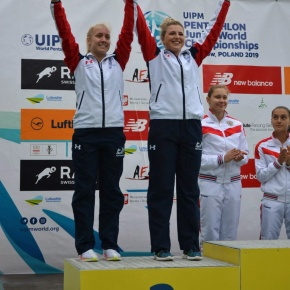 Plymouth pentathlete Bryson wins relay silver at Junior World Championships