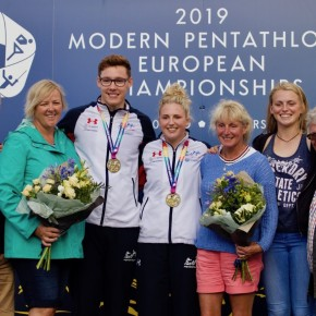 Plymouth pentathletes Pillage and Bryson win European mixed relay gold inBath